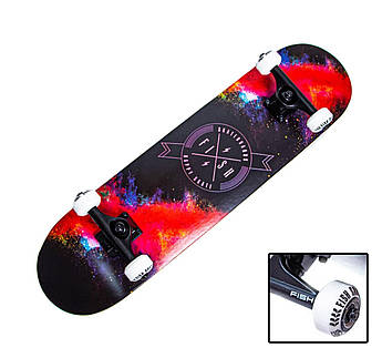 """Дерев'яний СкейтБорд від Fish Skateboard """"Happy Skate"""""""