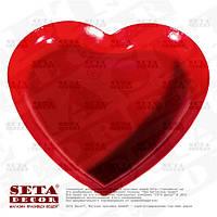 Подставка подсвечник Красное сердце