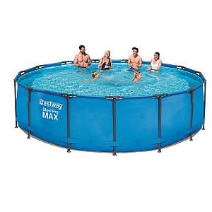 Каркасный бассейн MAX Bestway 56438 - 0 (чаша, каркас), 457 x 122 см, (Оригинал)