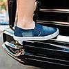 Мокасины слипоны женские летние синие джинсовые кеды мокасини сліпони жіночі літні сині джинсові кеди, фото 3