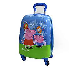 """Детский пластиковый чемодан  """"Свинка Пеппа"""""""