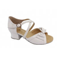 Туфли для бальных танцев Club Dance Б-4 белый лак