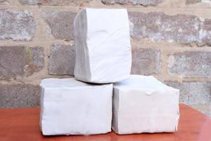 Біла глина для скульптурного ліплення 19 кг - керамічна маса
