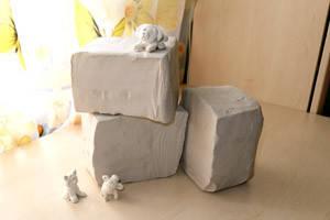 Глина біла для творчості 9 кг - керамічна маса