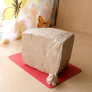 Біла глина 6 кг для творчості - натуральна біла глина, каолінова глина для ліплення