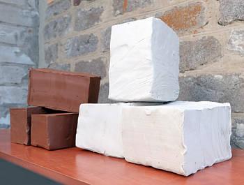 Біла глина 3 кг для творчості - натуральна біла глина, каолінова глина для ліплення