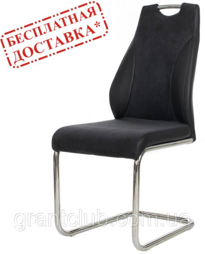 Обеденный мягкий стул S-103-2 черный ткань/кожзам Vetro Mebel