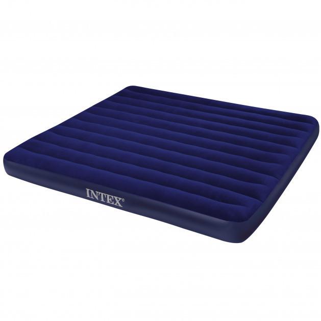 Надувной матрас двухместный Intex 68755 без насоса 183 х 203 х 22 см Темно-синий (68755_int)