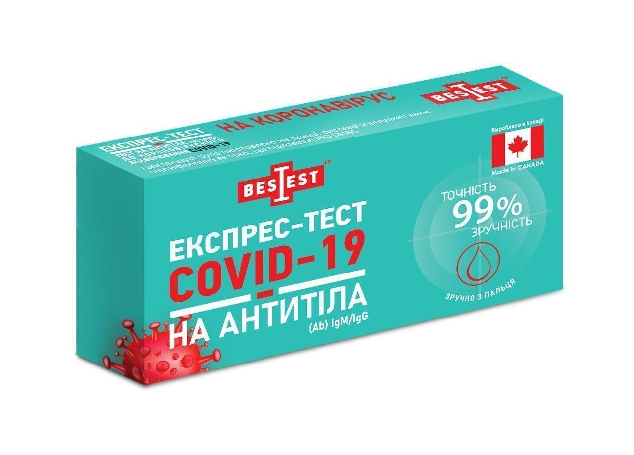 Тест Best Test на антитіла IgM / IgG до коронавирусной інфекції COVID-19 (коробка)