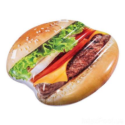 Пляжный надувной матрас Intex 58780 «Гамбургер», фото 2
