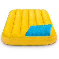 Дитячий надувний матрац з подушкою Intex 66801 Жовтий Cozy Kidz Airbed 88 x 1.57 x 18 см (int_66801-4)