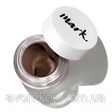 Підводка для дизайну брів Mark стійка відтінок Deep Brown - Avon mark perfect brow gel pot