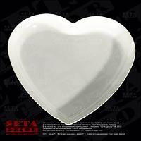 Подставка подсвечник Белое сердце