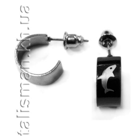 Серьга-гвоздик - SG-05 - дельфин