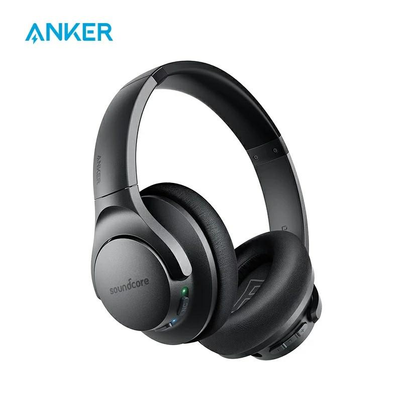 Гибридные наушники Anker Soundcore Life Q20 с активным шумоподавлением беспроводные накладные Bluetooth