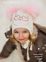 Зимние шапки для детей с декоративными элементами
