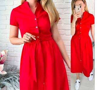 Сукня з короткими рукавами коттоновое Норма і батал