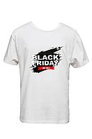 """Футболка чоловіча біла DNA з принтом """"Black Friday"""""""