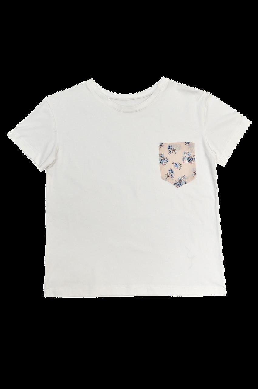 Футболка жіноча біла DNA з кишенькою 4