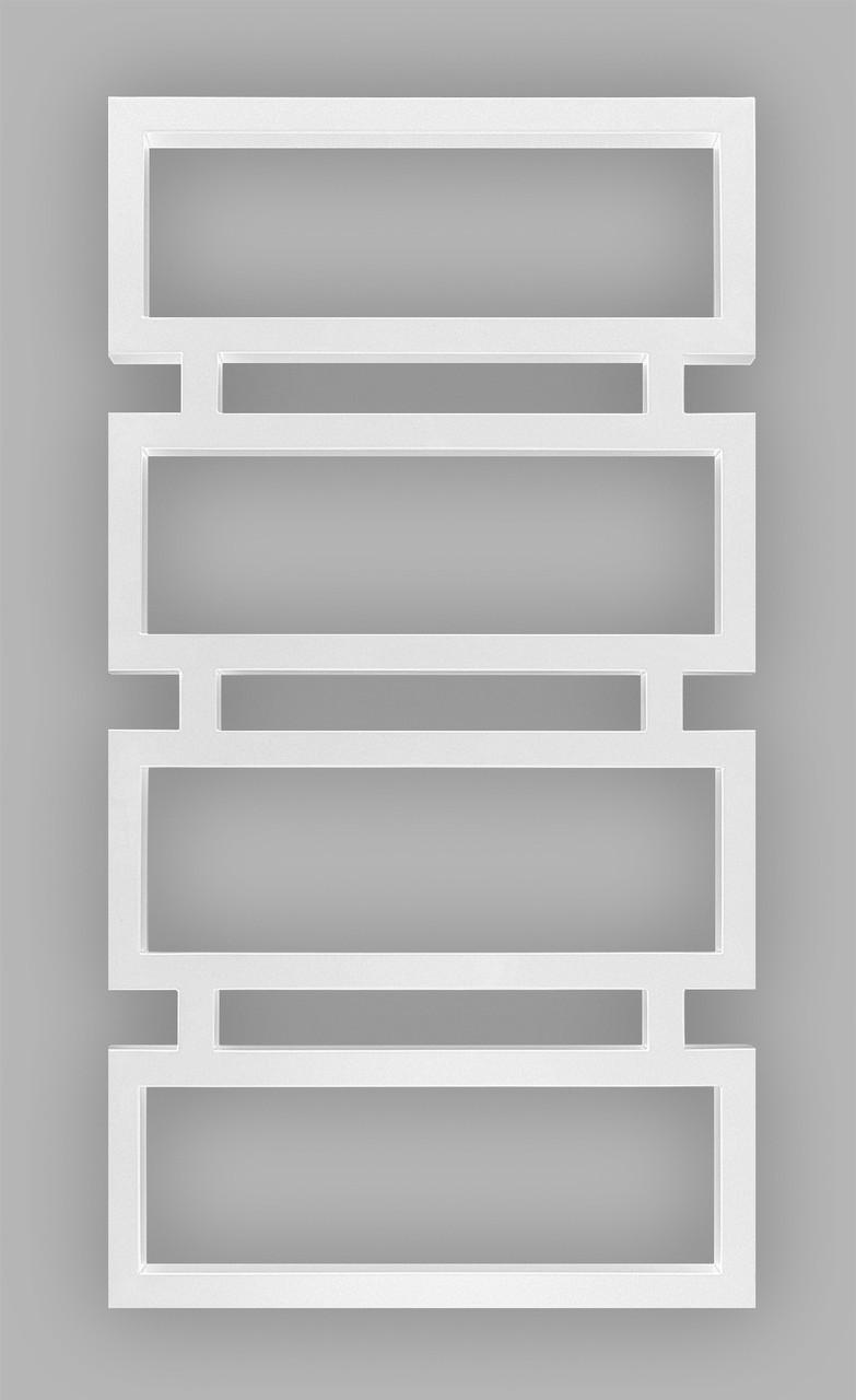 Полотенцесушитель Genesis-Aqua Quattro 80x53 см, білий