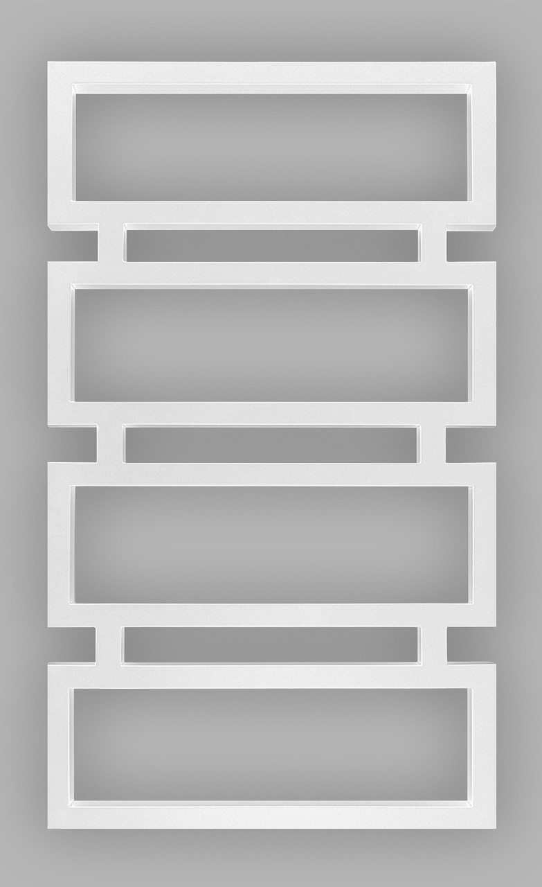 Полотенцесушитель Genesis-Aqua Quattro 120x53 см, білий