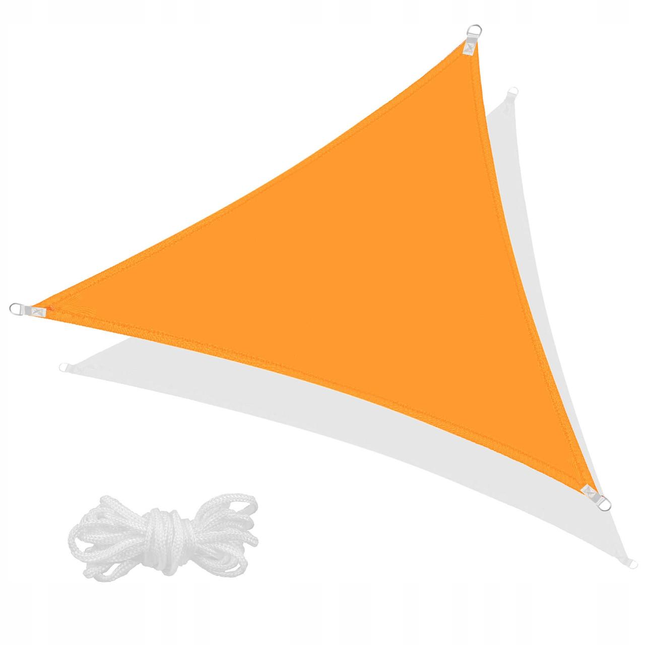 Тент-парус теневой для дома, сада и туризма Springos 7 x 5 x 5 м SN1012 Orange