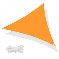 Тент-парус теневой для дома, сада и туризма Springos 7 x 5 x 5 м SN1012 Orange, фото 1