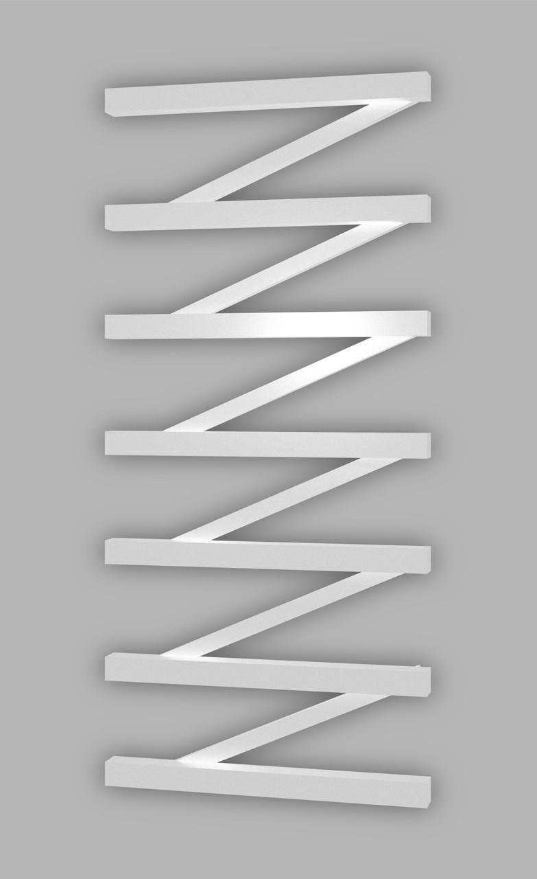 Електричний полотенцесушитель Genesis-Aqua ZigZag 100x53 см, білий
