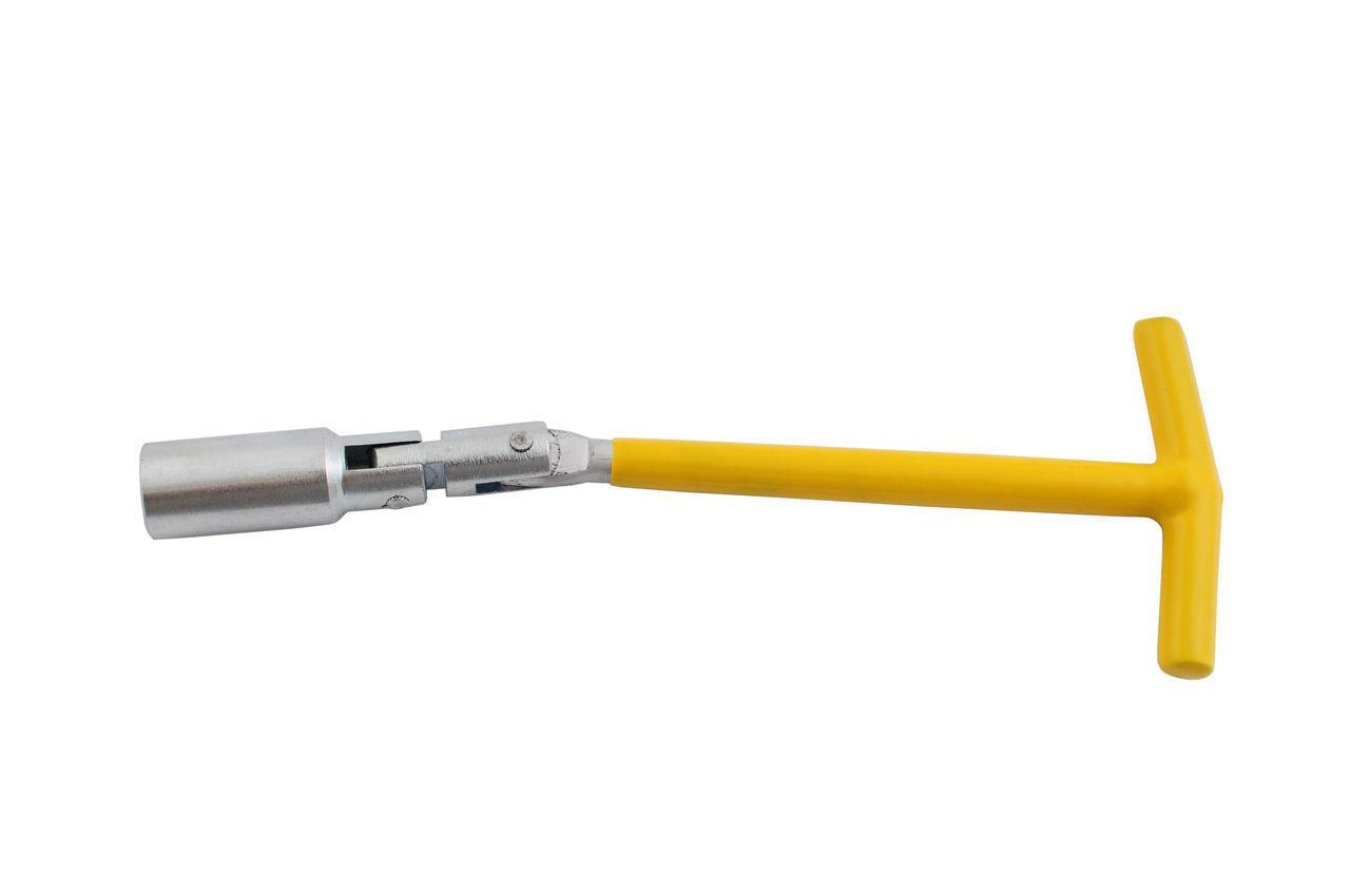 Ключ свічний Т-подібний з шарніром Intertool - 16 х 250 мм