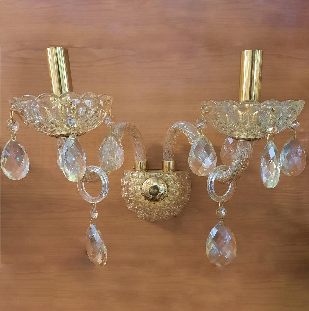 Бра, кришталь, свічки 13-8205/2W(2 лампи)