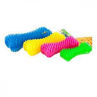 Sum Plast Bone іграшка кістка з м'якими шипами для чищення зубів з запахом ванілі для собак, №2 (14см)