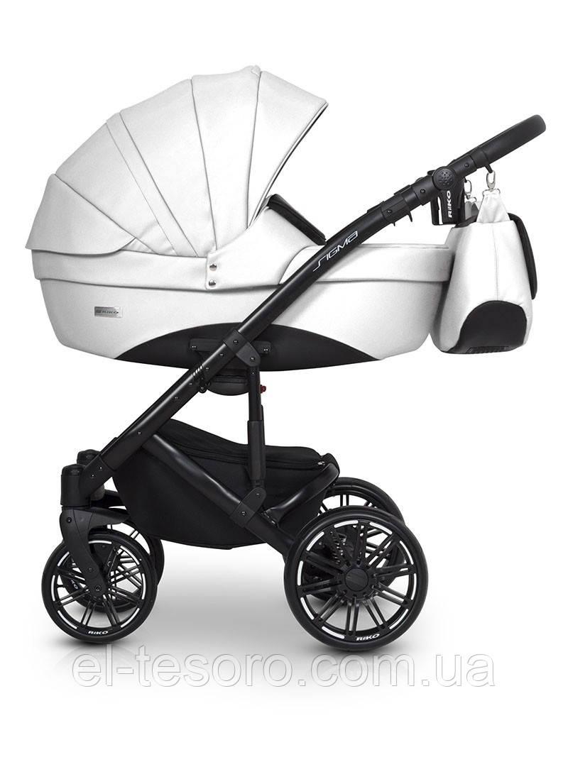 Детская универсальная коляска 2 в 1 Riko Sigma 08 White