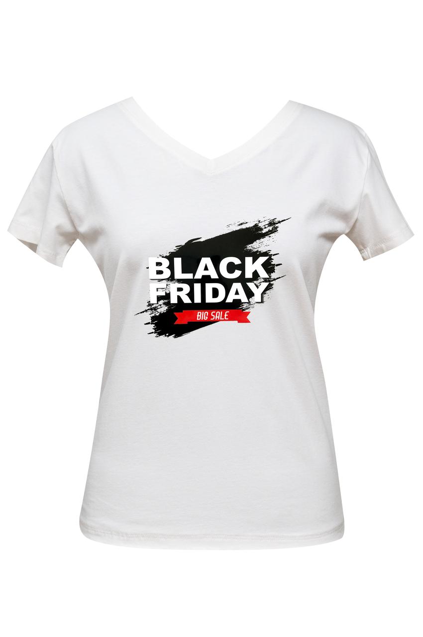 """Футболка жіноча біла DNA з принтом """"Black Friday"""""""