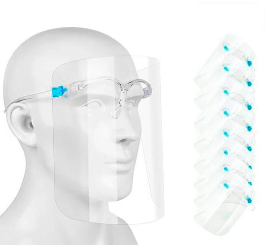 Упаковка захисних медичних масок-щитків (20 шт/уп.) антивірусні маски (щиток захисний)