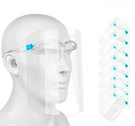 Упаковка захисних медичних масок-щитків (20 шт/уп.) антивірусні маски (щиток захисний), фото 1