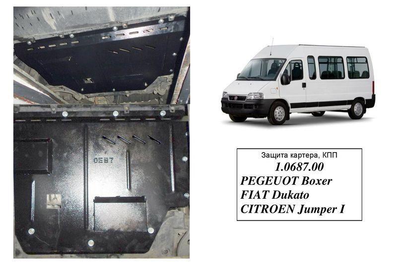 Защита двигателя Citroen Jumper 1 - 1994-2006 - 2,0і с кондиционером - двигатель, КПП, радиатор - Сталь +