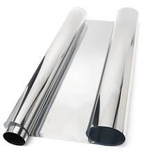 Тонировочная пленка для автомобиля. Пленка (silver\chrome) зеркальная 75х300 см \ затененность10%