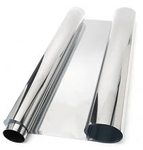 Автомобильная тонировка зеркальная SILVER 300х75см тонировочная защита от УФ-лучей, пленка для любых стекол