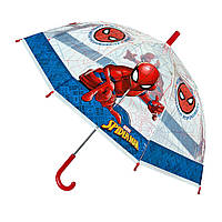 Детский зонтик трость Человек Паук Спайдермен полупрозрачный 60 см