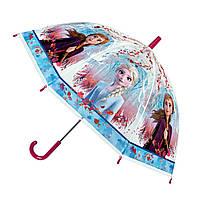 Детский зонтик трость Frozen Холодное сердце полупрозрачный 60 см