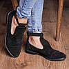 Жіночі чорні закриті туфлі з натуральної замші. Розміри 36-41