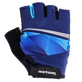 Велоперчатки Meteor Gel GX170 (original) с гелевой вставкой мужские женские спортивные L