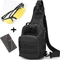 Тактическая мужская сумка через плечо M02B 6л. Барсетка Городская военная сумка Штурмовая Армейская