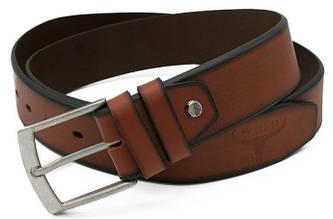 Мужской кожаный ремень под джинсы Cavaldi Buffalo Wild коричневый