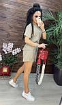 Літній костюм лляної з шортами і коротким кардіганом на запах (р. S, M) 43101979, фото 4