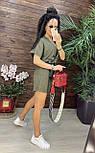 Літній костюм лляної з шортами і коротким кардіганом на запах (р. S, M) 43101979, фото 7