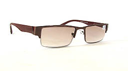 Универсальные полуоправные очки с тонированной линзой 9037