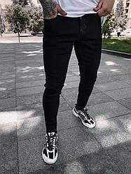 Чоловічі джинси завужені донизу (чорні) круті на літо s6378-1