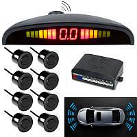 Парковочная система парктроник (8 датчиков парковки), Parking Sensor, парковочный радар на авто (NS), фото 1