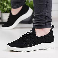 Кросівки жіночі на літо чорні текстильна сітка 36р